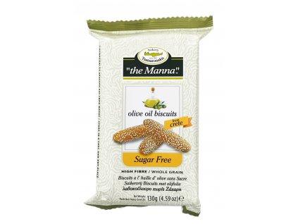 Celozrnné sušenky bez cukru s kakaem 130g TO MANNA