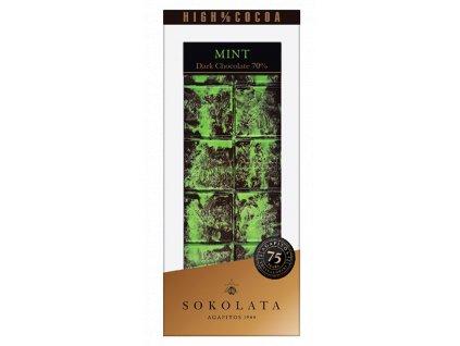 70% hořká čokoláda s mátou 100g SOKOLATA AGAPITOS