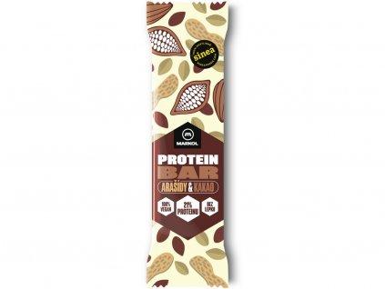 Proteinová tyčinka Arašídy a kakao 40g Markol