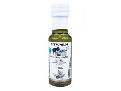 PETROMILOS Extra panenský olivový olej ČESNEK, sklo, 100 ml
