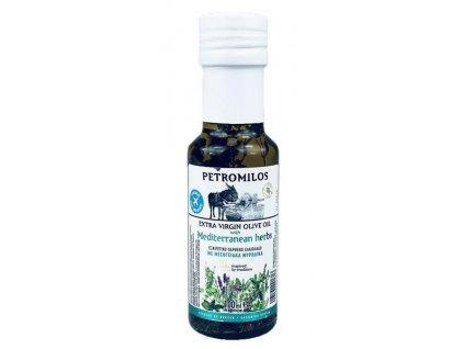 PETROMILOS Extra pan. oliv. olej Středomořské koření, sklo, 100 ml