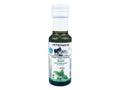 PETROMILOS Extra panenský olivový olej BAZALKA, sklo, 100 ml