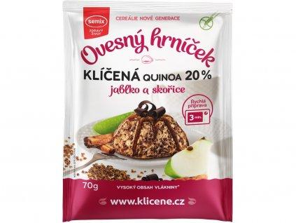 Ovesný hrníček s klíčenou quinoou, jablky a skořicí bez lepku 70g Semix