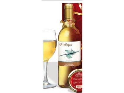 """AKCE """"Atlantique"""" IGP, francouzské sladké bílé víno 0,75, ročník 2014"""