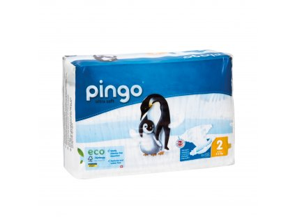 Jednorázové ekologické pleny pro děti č. 2: 3-6 kg 42 ks Pingo