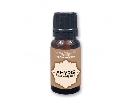 Amyris -Santalové dřevo 100% esenciální olej 10 ml Altevita