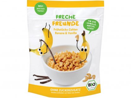 Bio Cereálie Křupavá čísla Banán a vanilka 125g Freche Freunde