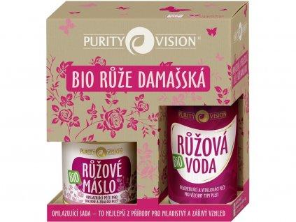 Omlazující sada s růži damašskou 220ml Purity Vision