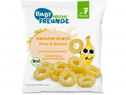 Bio Křupavé kroužky Proso a banán 20g Freche Freunde