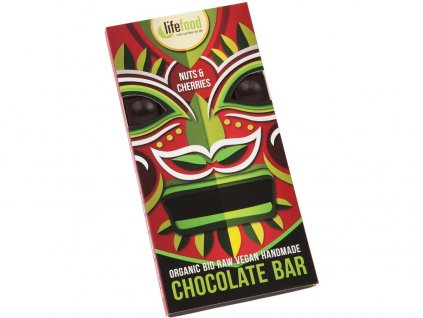 Bio Lifefood Chocolate s kousky ořechů a třešní 70g Lifefood