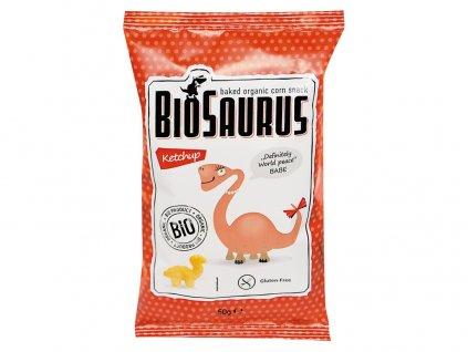 Bio Biosaurus křupky s kečupem 50g Biosaurus