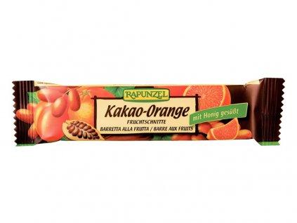 Bio tyčinka Kakao-Pomeranč 40g Rapunzel