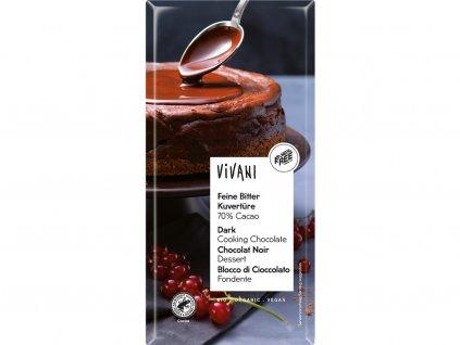 Bio Čokoláda na vaření hořká 200g Vivani