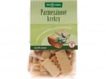 Bio Parmezánové krekry s EP olivovým olejem 130g Bio nebio