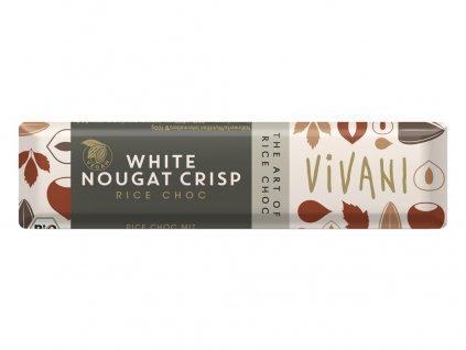 Bio tyčinka Nugátová bílá s rýžovým mlékem 35g Vivani