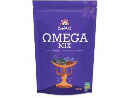 Bio Omega Mix (směs mletých semínek chia, hnědý len) 250g Iswari