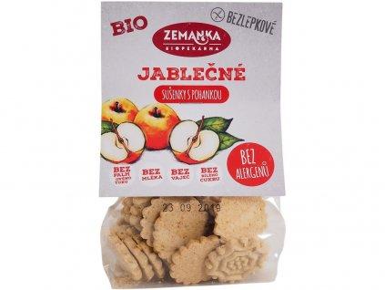 Bio Bezlepkové jablečno-pohankové sušenky 100 g Biopekárna Zemanka