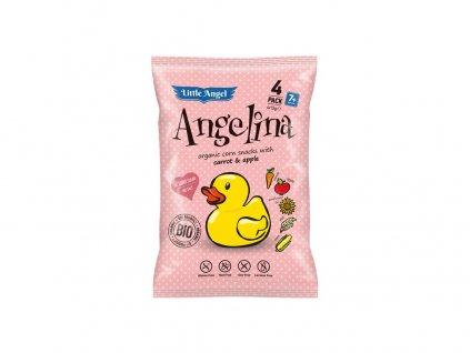 Bio Snack kukuřičný Angelina mrkev a jablko 4x15g Little Angel