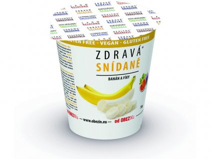 Zdravá snídaně - banán/fíky 78g Obezin