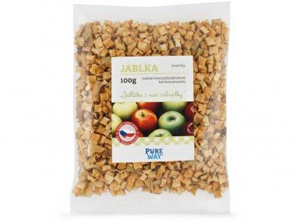 Jablka - kostičky 100g Pure Way