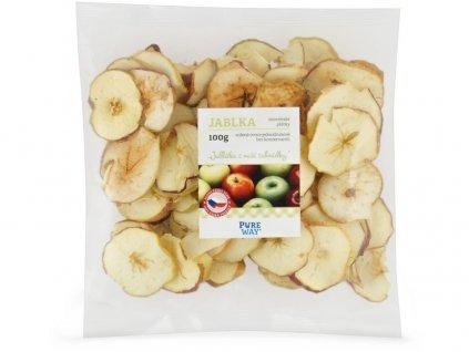 Jablka - staročeské plátky 100g Pure Way