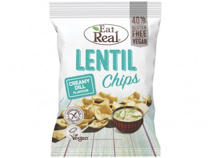 Čočkové chipsy – s krémovým koprem 40g EatReal