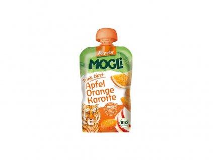 Bio Ovocné pyré Moothie jablko pomeranč mrkev bez cukru 100g Mogli