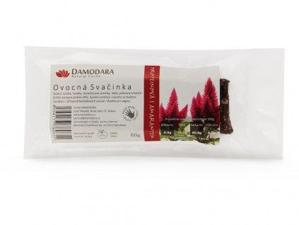 Tyčinka Ovocná svačinka proteinová s amarantem 60g Damodara