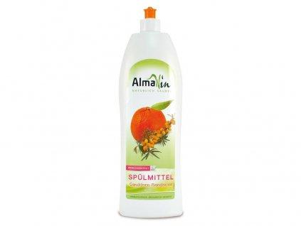AlmaWin Tekutý prostředek na nádobí Bio rakytník - Bio mandarinka 1l AlmaWin