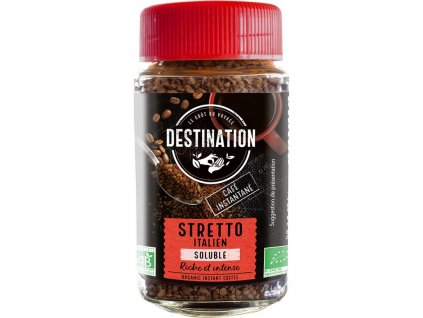 Bio instantní káva Stretto Destination 100 g Destination