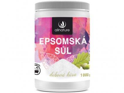 Epsomská sůl dubová kůra 1000g Allnature
