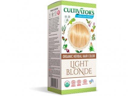 Bio přírodní barva na vlasy 100% 2 - Světlá Blond 100g Cultivator