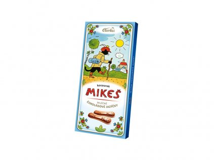 Čokoládové jazýčky mléčné koucourek Mikeš 50g Carla