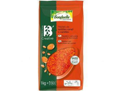 Pepitky z červené čočky a mrkve 1kg Bonduelle