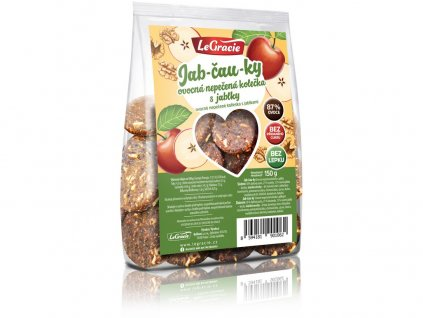 Ovocné nepečené sušenky Jab-čau-ky 150 g LeGracie