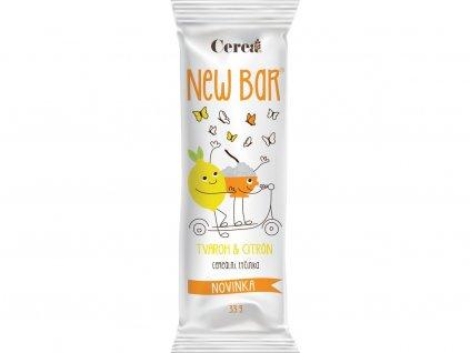Cereální tyčinka New Bar tvaroh citron 28g Cerea