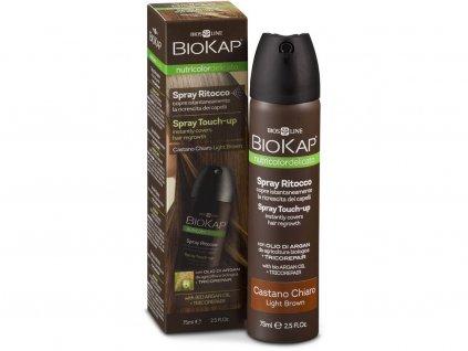 Delicato Spray Touch Up Nutricolor - Hnědá světlá 75 ml Biosline