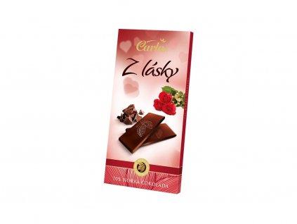 Hořká čokoláda 70% z lásky 80g Carla