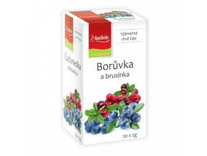 Apotheke PREMIER Borůvka a brusinka čaj 20x2g