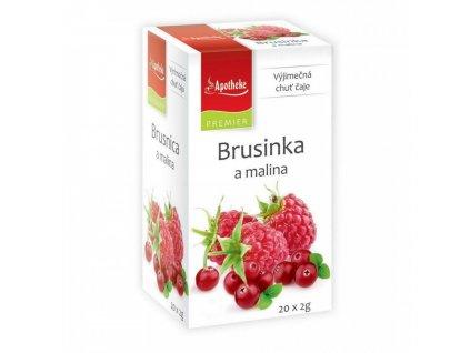 Apotheke PREMIER Brusinka a malina čaj 20x2g