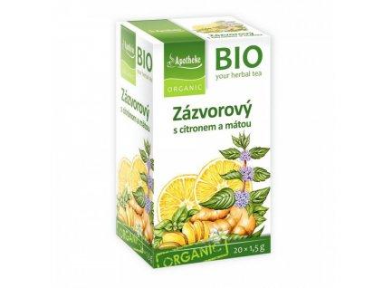 Apotheke BIO Zázvorový čaj s citronem a mátou 20x1,5g