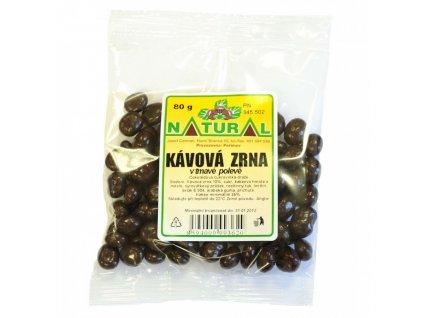 Natural Kávové zrno v čokoládě 80g