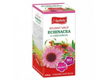 Apotheke BYLINNÝ SIRUP Echinacea s rakytníkem 250g