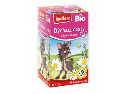 Apotheke BIO Dětský čaj Na dýchací cesty s heř. 20x1,5g