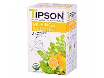 BIO Moringa a citron čaj 25x1,5g Tipson
