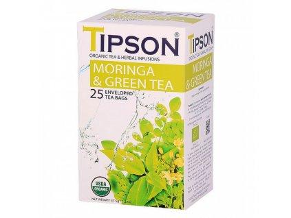 BIO Moringa a zelený čaj 25x1,5g Tipson