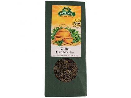 Čaj sypaný China Gunpowder 50 g BIO BIOLINIE - DOČASNĚ NEDOSTUPNÝ