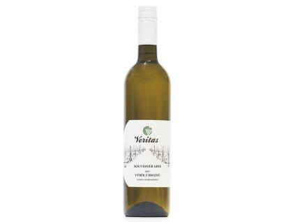 Víno bílé Souvignier Gris ročník 2017 - výběr z hroznů (polosladké) 750 ml BIO VERITAS