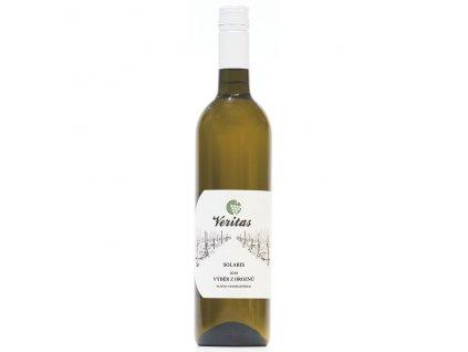 Víno bílé Solaris ročník 2018 - výběr z hroznů (sladké) 750 ml BIO VERITAS