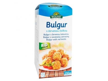 Bulgur s červenou čočkou 210 g BIO BIOLINIE